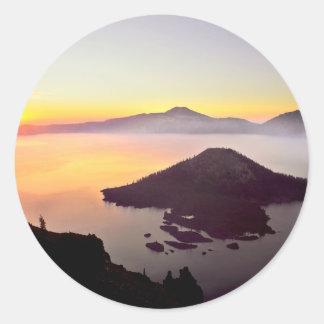 USA, Oregon, Crater Lake National Park 3 Round Sticker