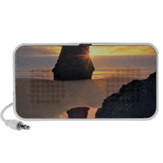 USA, Oregon. Rock Formation At Sunset Mini Speaker