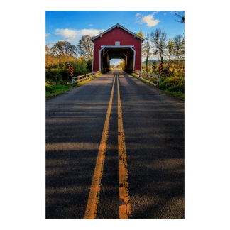 USA, Oregon, Scio, Shimanek Bridge 2 Posters