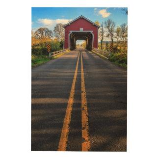 USA, Oregon, Scio, Shimanek Bridge 2 Wood Print