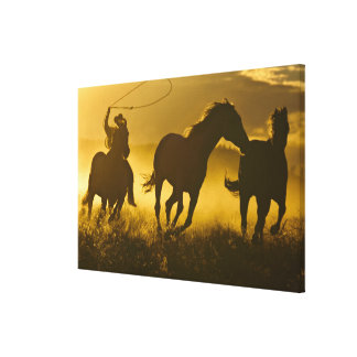 USA, Oregon, Seneca, Ponderosa Ranch. Canvas Print