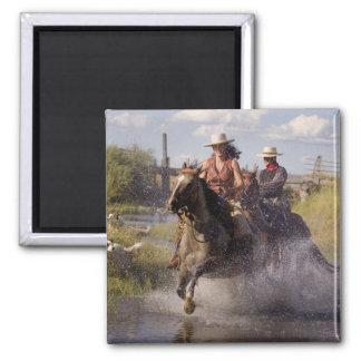 USA, Oregon, Seneca, Ponderosa Ranch. Cowboy 2 Magnet