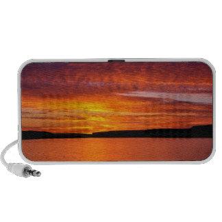 USA, Oregon. Sunset Over Lake Umatilla Speaker System