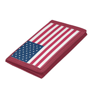 USA patriot: A truly patriotic gift: American Flag Trifold Wallet
