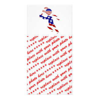 USA Patriotic Men's Tennis Player Photo Cards