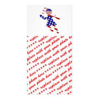 USA Patriotic Womens Tennis Player Photo Cards