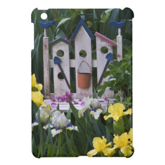 USA, Pennsylvania. Garden irises grow around iPad Mini Covers