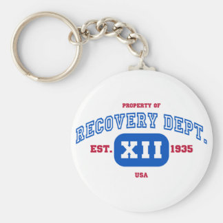USA Recovery Basic Round Button Key Ring