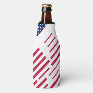 USA Red Blue White Stars and Stripes Bottle Cooler