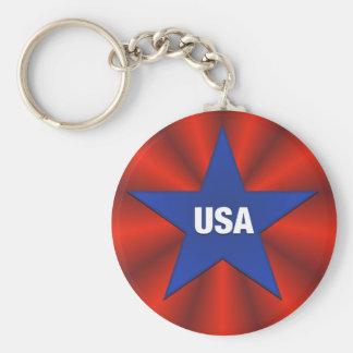 USA Ribbon Bunting Star Keychain