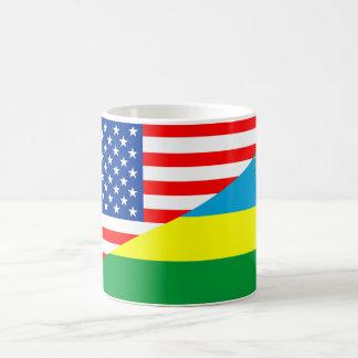 usa rwanda country half flag america symbol coffee mug