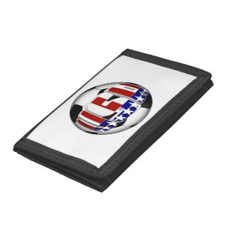 USA Soccer Ball Tri-fold Wallets