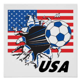 USA Soccer Team Poster