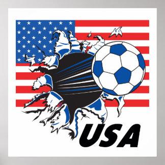 USA Soccer Team Poster