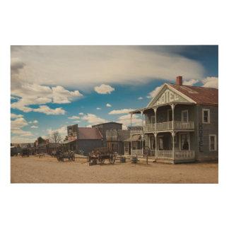 USA, South Dakota, Stamford, 1880 Town, Pioneer Wood Print