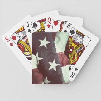 USA stars and stripes grunge Playing Cards