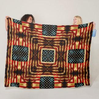USA Steampunk Vintage Civil War Flag Quilt Fleece Blanket