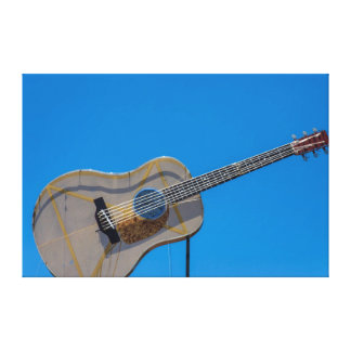 USA, Texas, Austin. South Austin Music Store Canvas Print