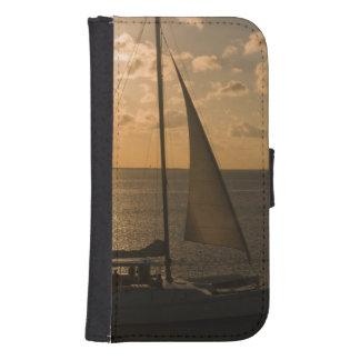USA, Texas, South Padre Island. Sailboat Samsung S4 Wallet Case