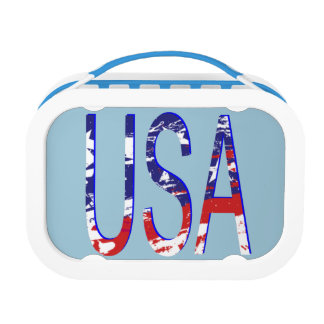 USA Two-Tone Lunch Box