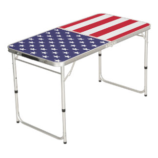USA United States of America Patriotic Beer Pong Table