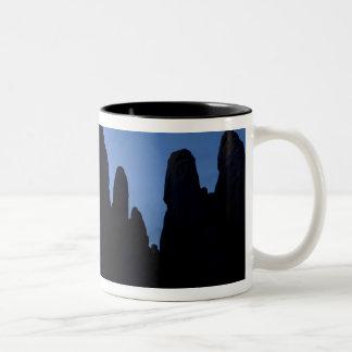 USA, Utah, Arches National Park. Crescent moon Two-Tone Coffee Mug