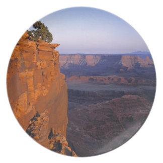 USA, Utah, Dead Horse Point SP. Late light turns Plate