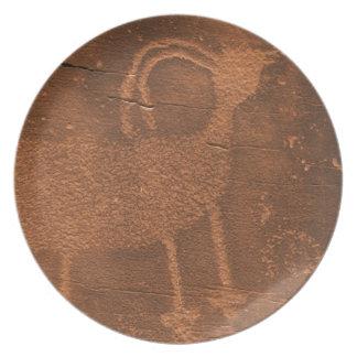USA, Utah. Prehistoric petroglyph rock art at 2 Plate