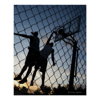 USA, Utah, Salt Lake City, two young men playing 2 Poster