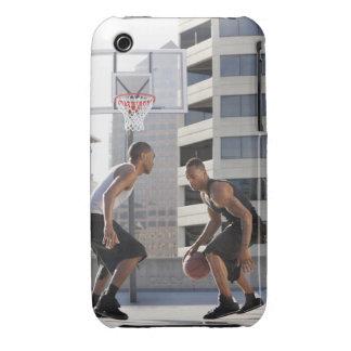 USA, Utah, Salt Lake City, two young men playing iPhone 3 Case