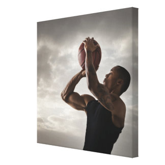 USA, Utah, Salt Lake City, Young man playing 2 Gallery Wrapped Canvas