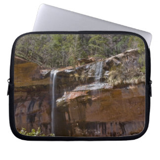 USA, Utah, Zion National Park, Water Falls at Laptop Sleeve