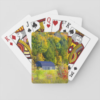 USA, Vermont. Fall foilage along Highway 100. Playing Cards