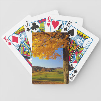 USA, Vermont. Farm Scenic Near South Woodstock Bicycle Playing Cards
