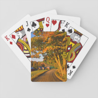 USA, Vermont, South Woodstock Playing Cards