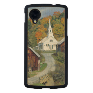 USA, Vermont, Waits River. Fall foliage adds Carved® Maple Nexus 5 Slim Case