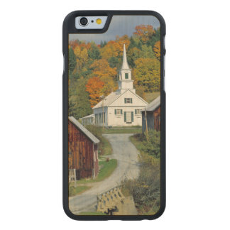 USA, Vermont, Waits River. Fall foliage adds Carved® Maple iPhone 6 Case