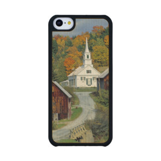 USA, Vermont, Waits River. Fall foliage adds Carved® Maple iPhone 5C Slim Case