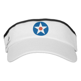 USA Vintage Military Airplane Star visor hat
