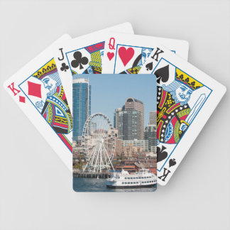 USA, Wa, Seattle. Argosy Harbor Cruise Boat Bicycle Playing Cards