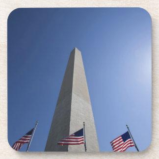 USA, Washington, D.C. American flags at the Coaster