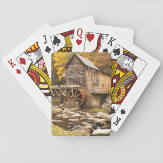 USA, West Virginia, Clifftop. Babcock State 2 Playing Cards