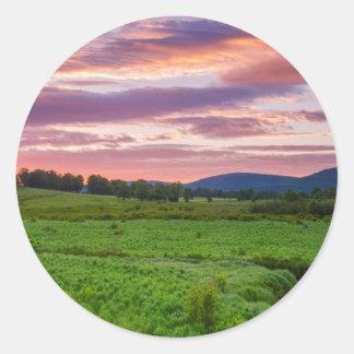 USA, West Virginia, Davis. Landscape Round Stickers