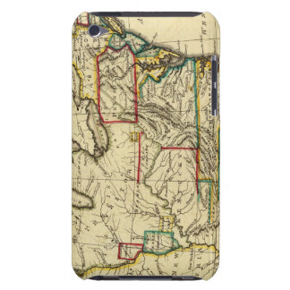 USA with boundaries outlined Barely There iPod Cover