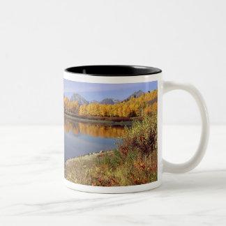 USA, Wyoming, Grand Teton National Park. Mt. 2 Two-Tone Coffee Mug