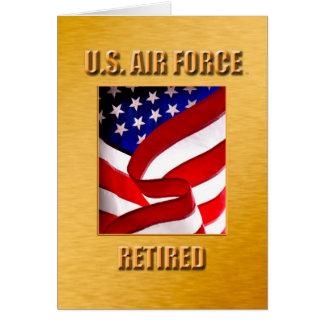 USAF Retired Greeting Card