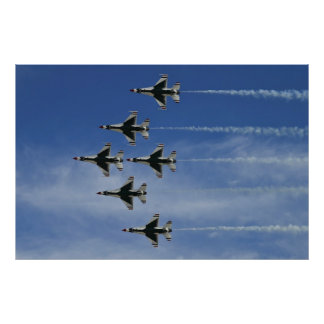 USAF Thunderbirds Delta Bottom Up Pass 2010 Poster