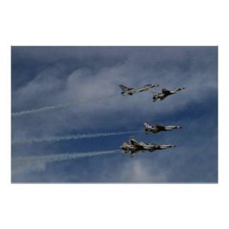USAF Thunderbirds Delta Break Poster