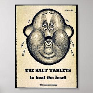 Use Salt Tablets Poster