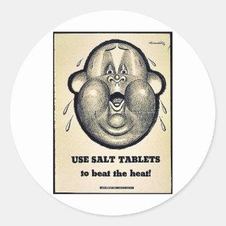 Use Salt Tablets Round Sticker